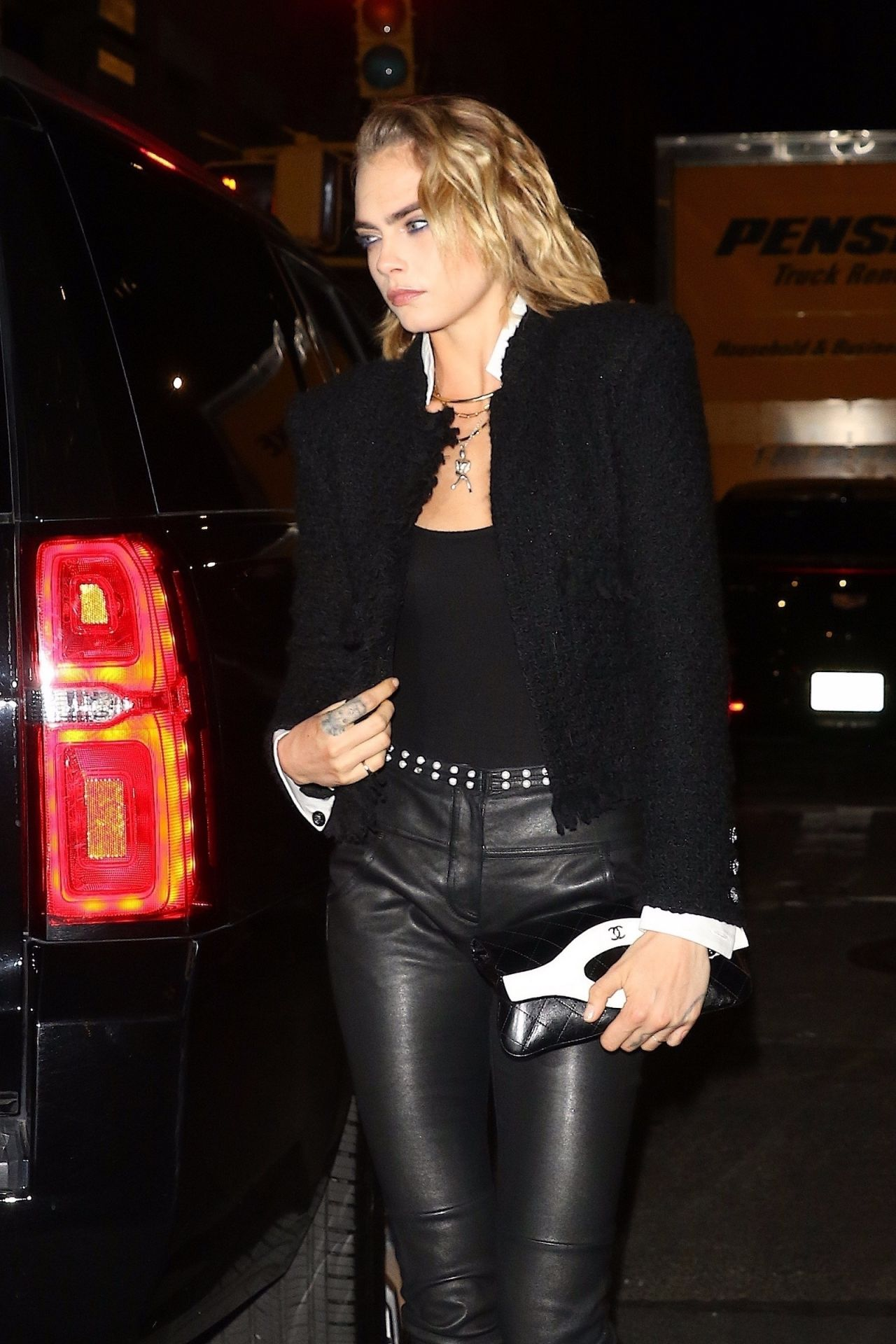 Ashley Benson and Cara Delevingne - Exit Their Hotel in ...