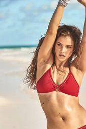 Barbara Palvin in Red Bikini, April 2019