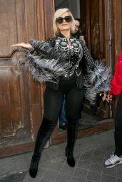 """Bebe Rexha - Leaving the """"C a Vous"""" TV Studio in Paris 04/11/2019"""