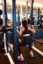 Blanca Blanco in Workout Gear at Equinox in LA 04/22/2019