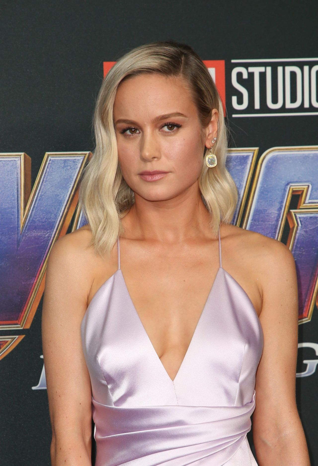 brie larson attends the world premiere of avengers