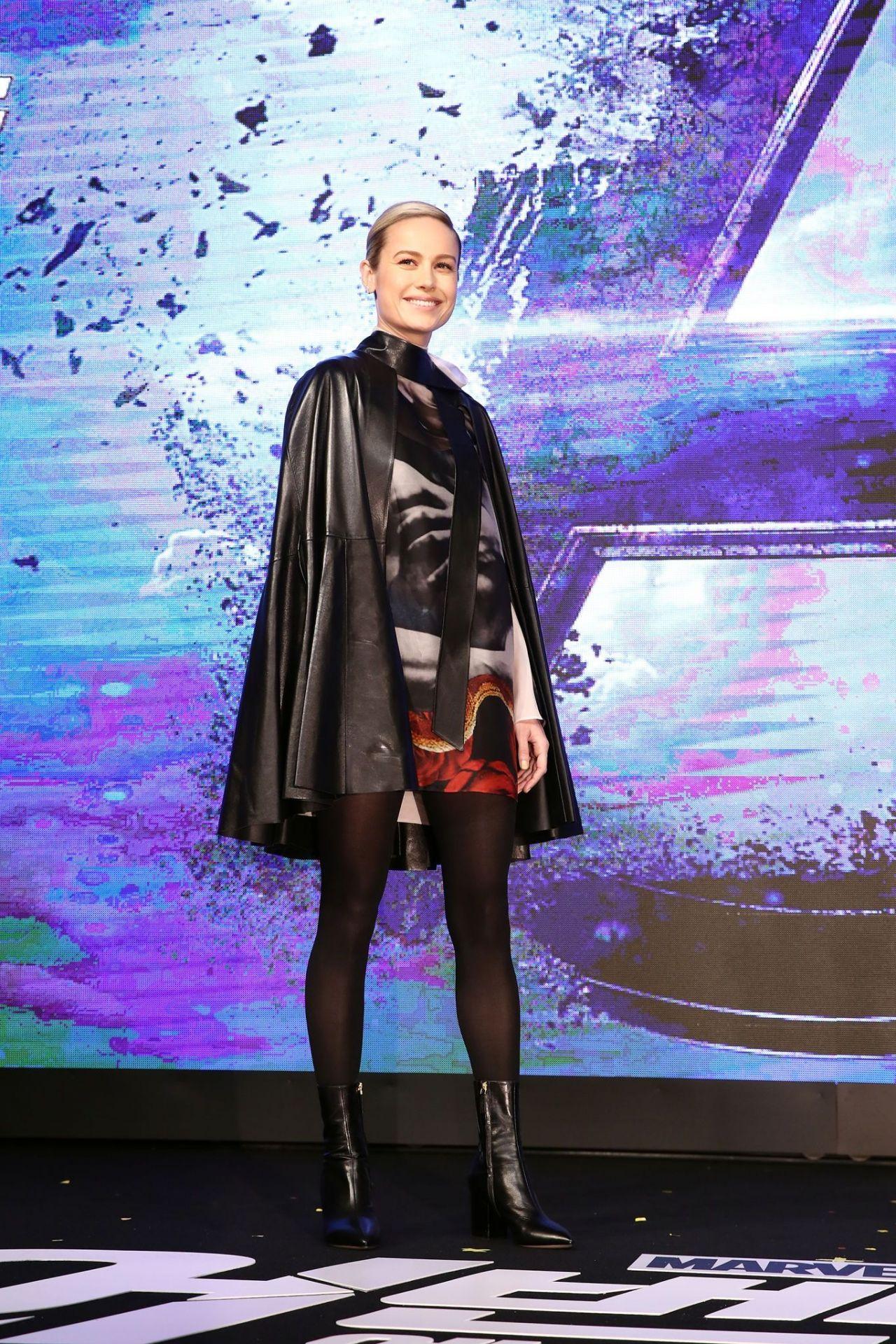 Brie Larson Quot Avengers Endgame Quot Press Conference In