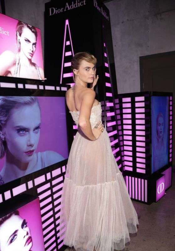 Cara Delevingne - Dior Addict Stellar Shine Launch in Seoul