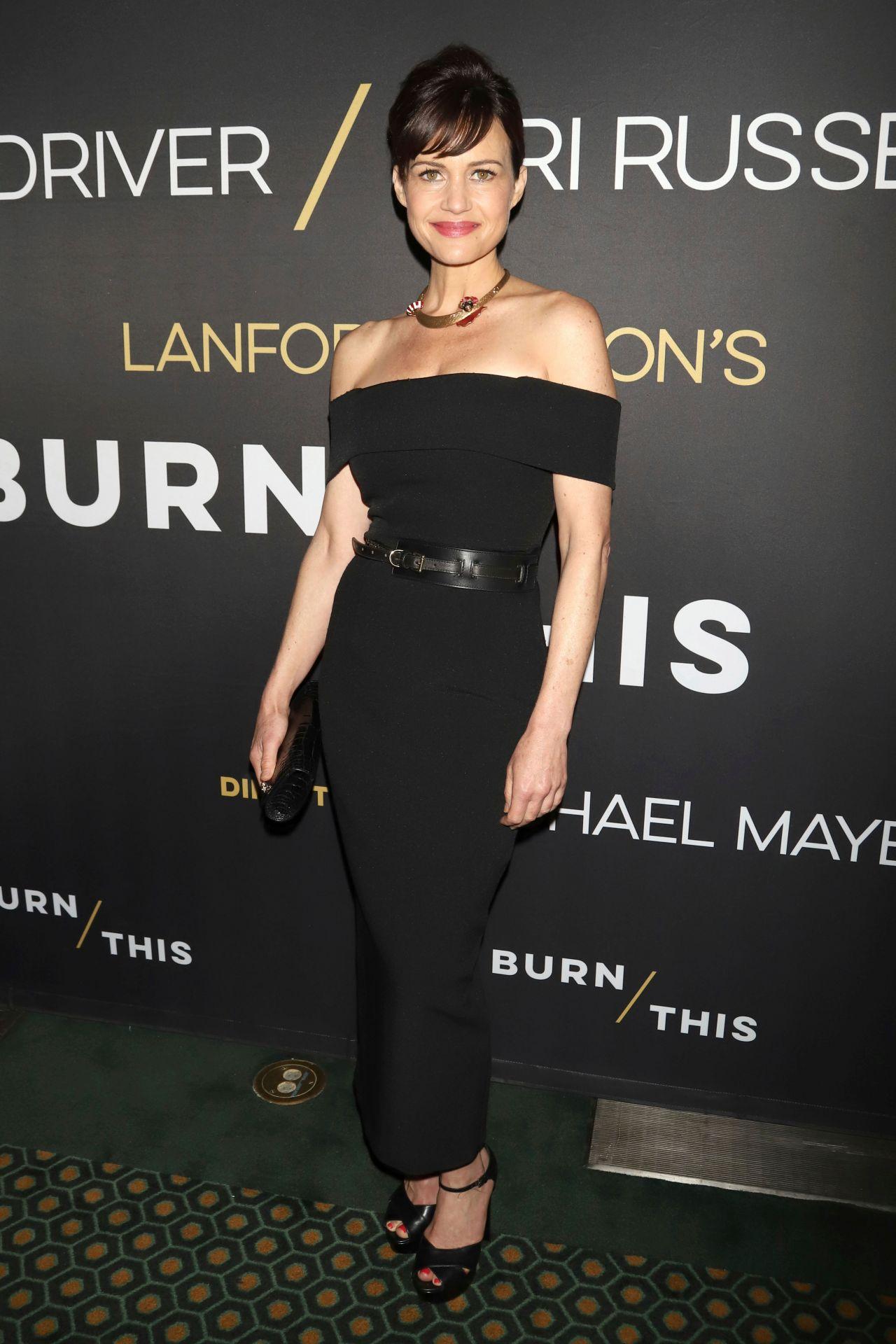 """Carla Gugino gorgeous at """"Burn This"""" broadway play opening night"""