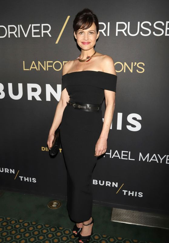 "Carla Gugino – ""Burn This"" Broadway Play Opening Night"