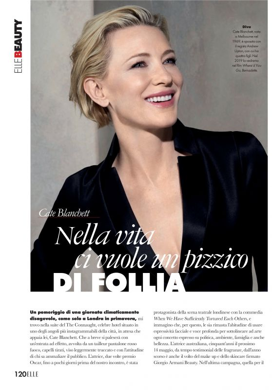 Cate Blanchett - ELLE Magazine Italia April 2019 Issue