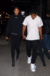 Chanel Iman and Sterling Shepard - Leave Off-White Dinner at L