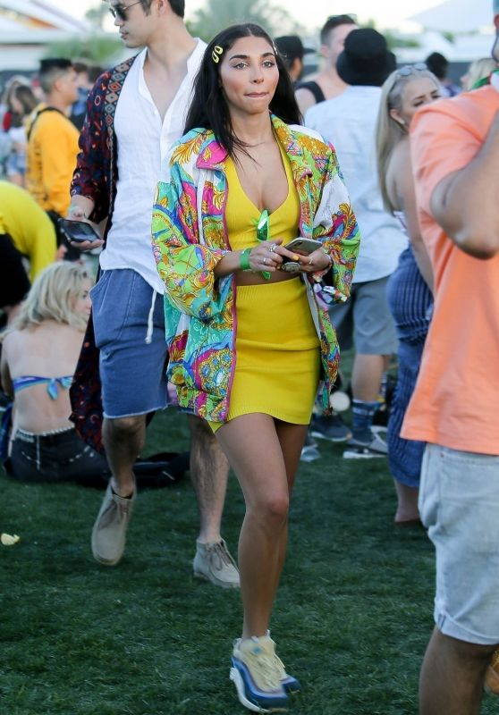 Chantel Jeffries and Ross Butler at the Coachella 04/12/2019