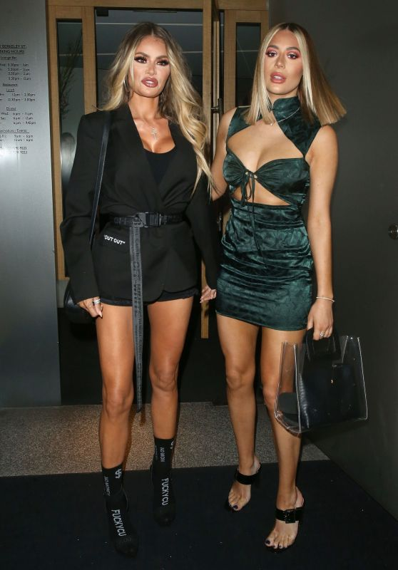 Chloe Sims and Demi Sims at Nobu Restaurant in London 04/20/2019