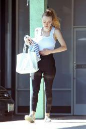 Dakota Fanning in Spandex at the Gym in LA 04/17/2019