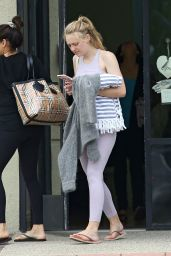 Dakota Fanning - Leaving the Gym in LA 04/03/2019