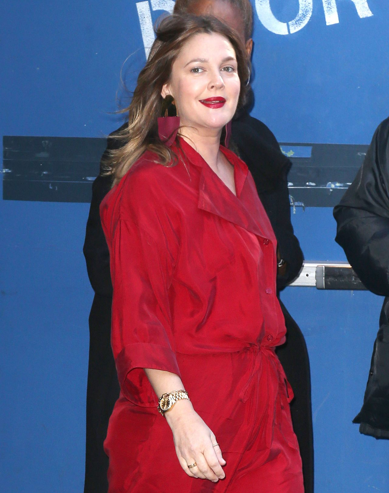 Drew Barrymore Arrives At Gma In Nyc 04 01 2019