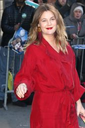 Drew Barrymore - Arrives at GMA in NYC 04/01/2019