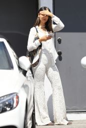 Eiza Gonzalez in All White - Exiting a Hair Salon in LA 04/04/2019