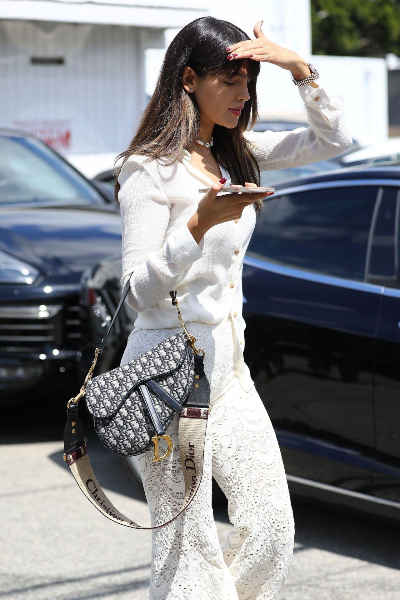 Eiza Gonzalez In All White Exiting A Hair Salon In La 04