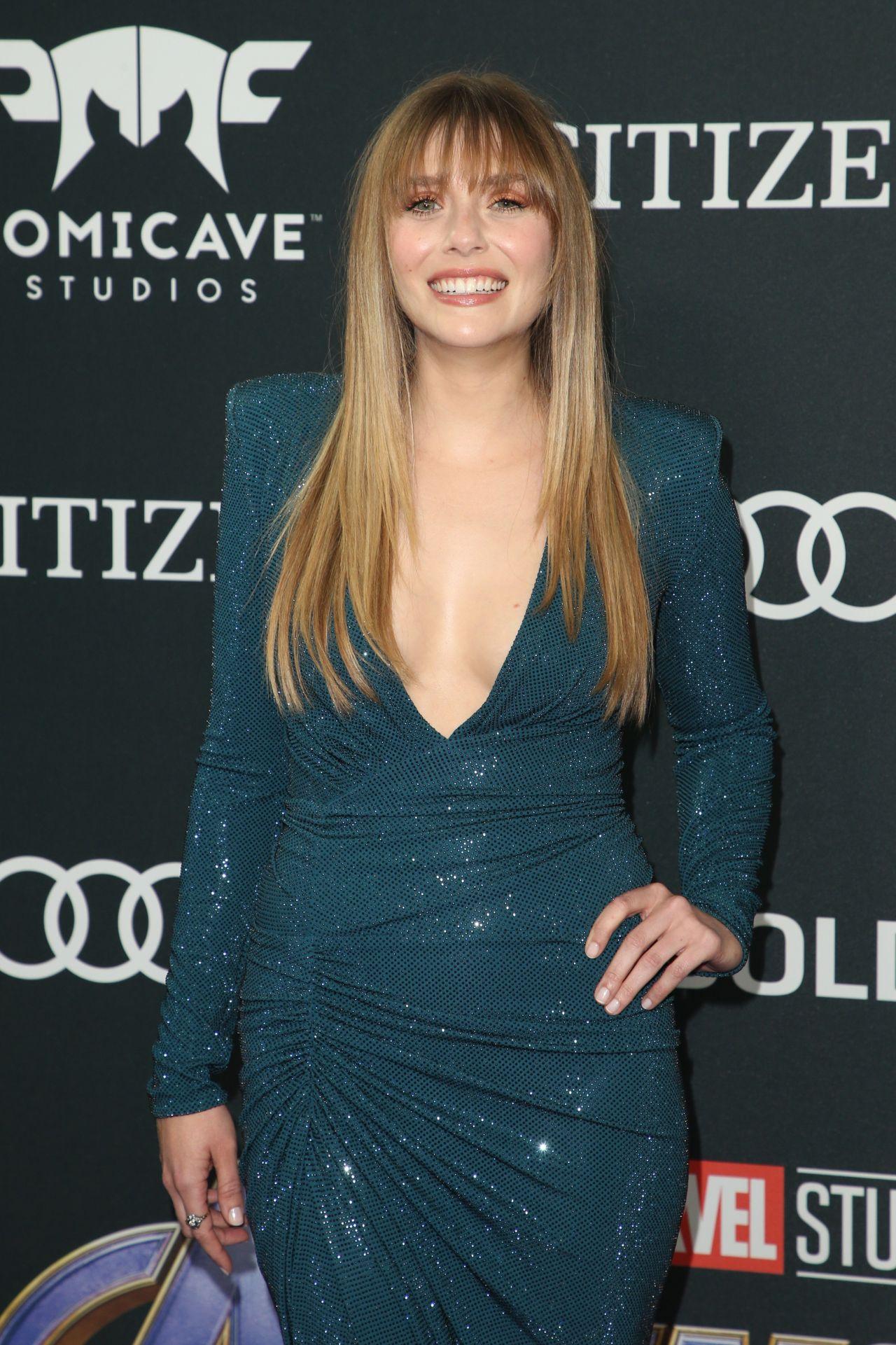 Elizabeth Olsen Avengers Endgame Premiere In La