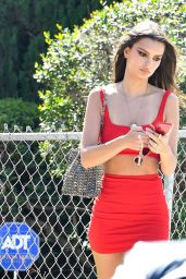 Emily Ratajkowski in Crop Top and Mini Skirt - Out in LA 04/19/2019