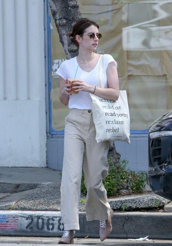 Emma Roberts - Meets Up For Breakfast With Actor Darren Criss and Wife Mia Swier in LA 04/08/2019