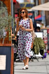 Eva Mendes - Out for coffee in Santa Monica 04/24/2019