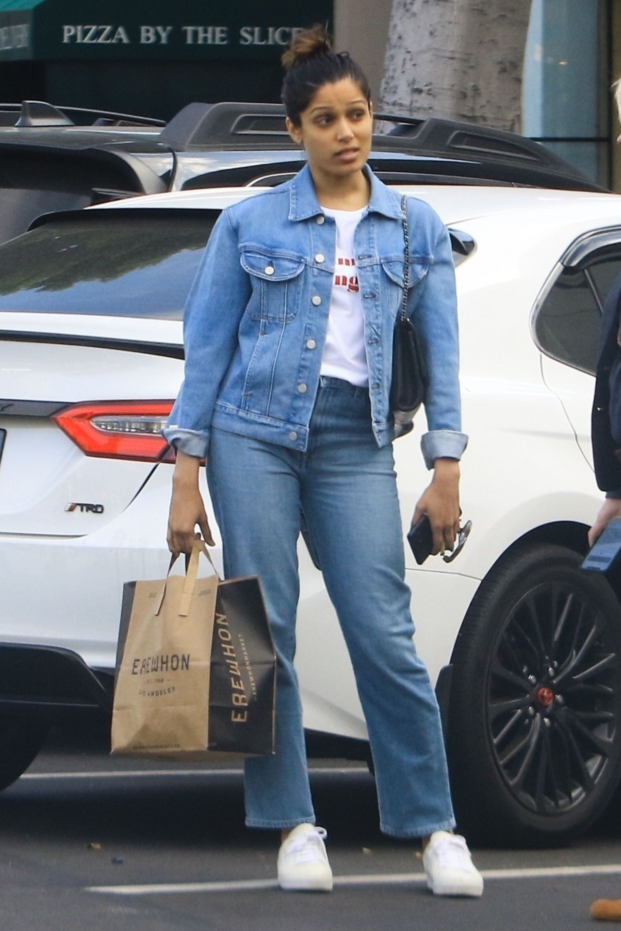 Freida Pinto - Shopping at Erewhon in Los Angeles 04/16/2019