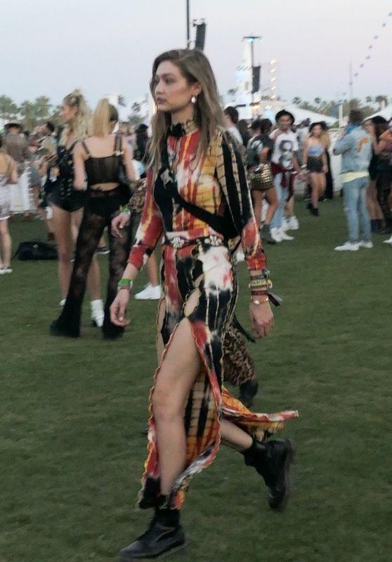 Gigi Hadid - Arrives for Day Two of Coachella 04/13/2019