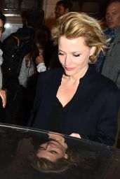 Gillian Anderson - Leaving the National Theatre in London 04/19/2019