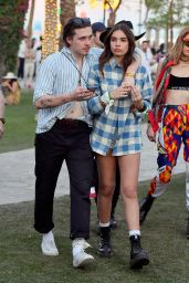 Hana Cross and Brooklyn Beckham at Coachella in Indio 04/12/2019