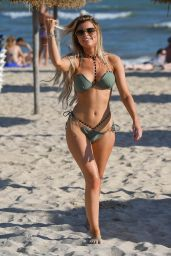Hayley Hughes in Bikini on a Beach in Majorca 04/10/2019