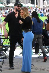 """Hilary Duff - """"Younger"""" Filming in NYC 04/24/2019"""