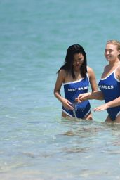 Iskra Lawrence in Swimsuit at Miami Beach 03/29/2019