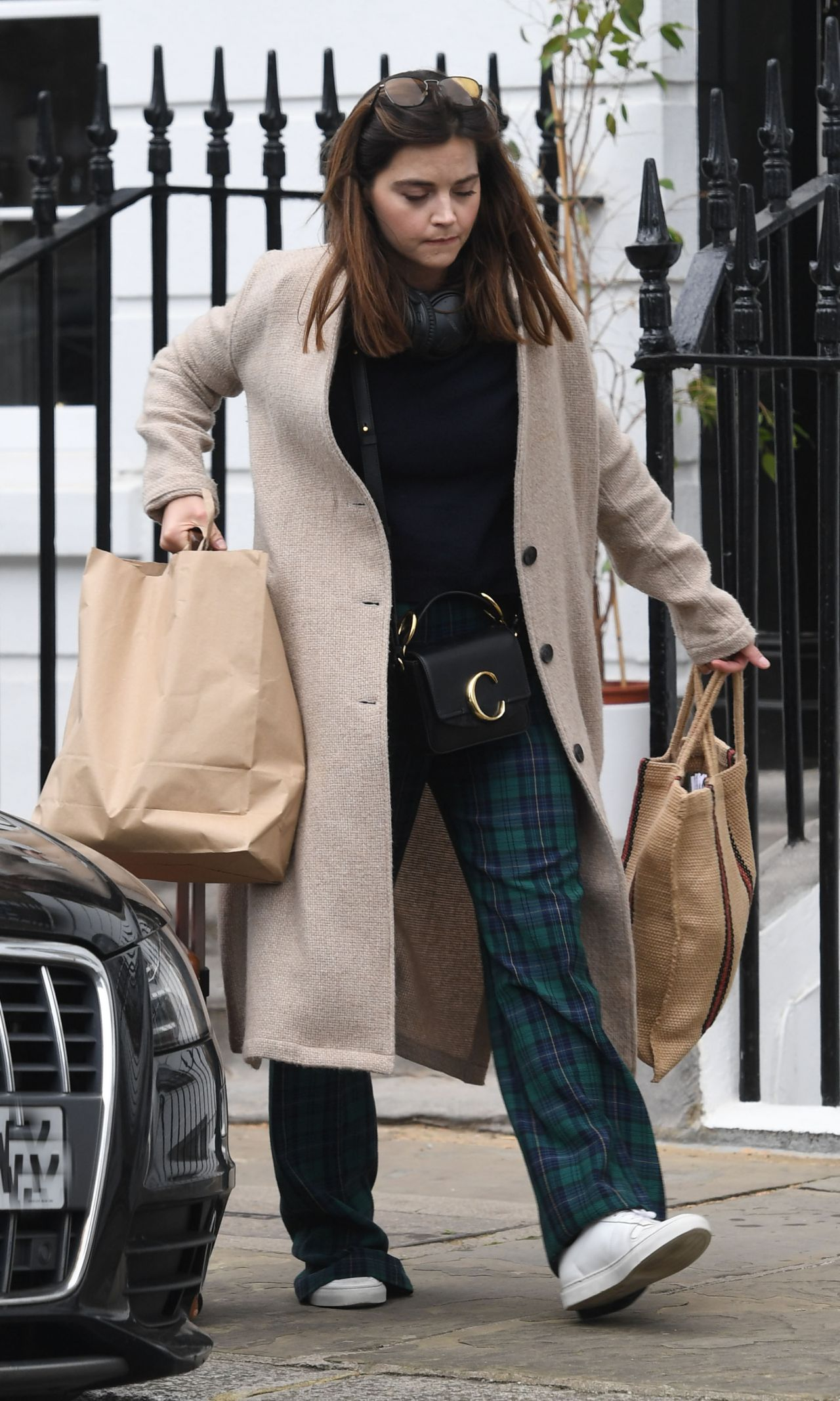 jenna coleman casual style  london 04302019