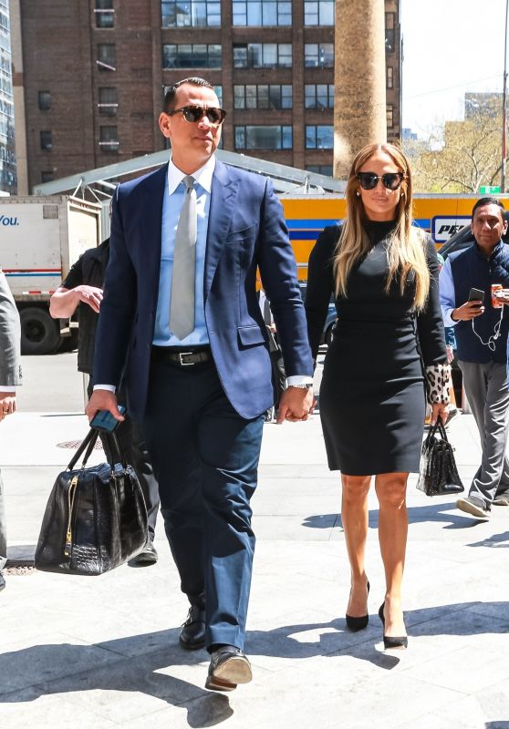 Jennifer Lopez and Alex Rodriguez at the Hudson Yards in NYC 04/17/2019