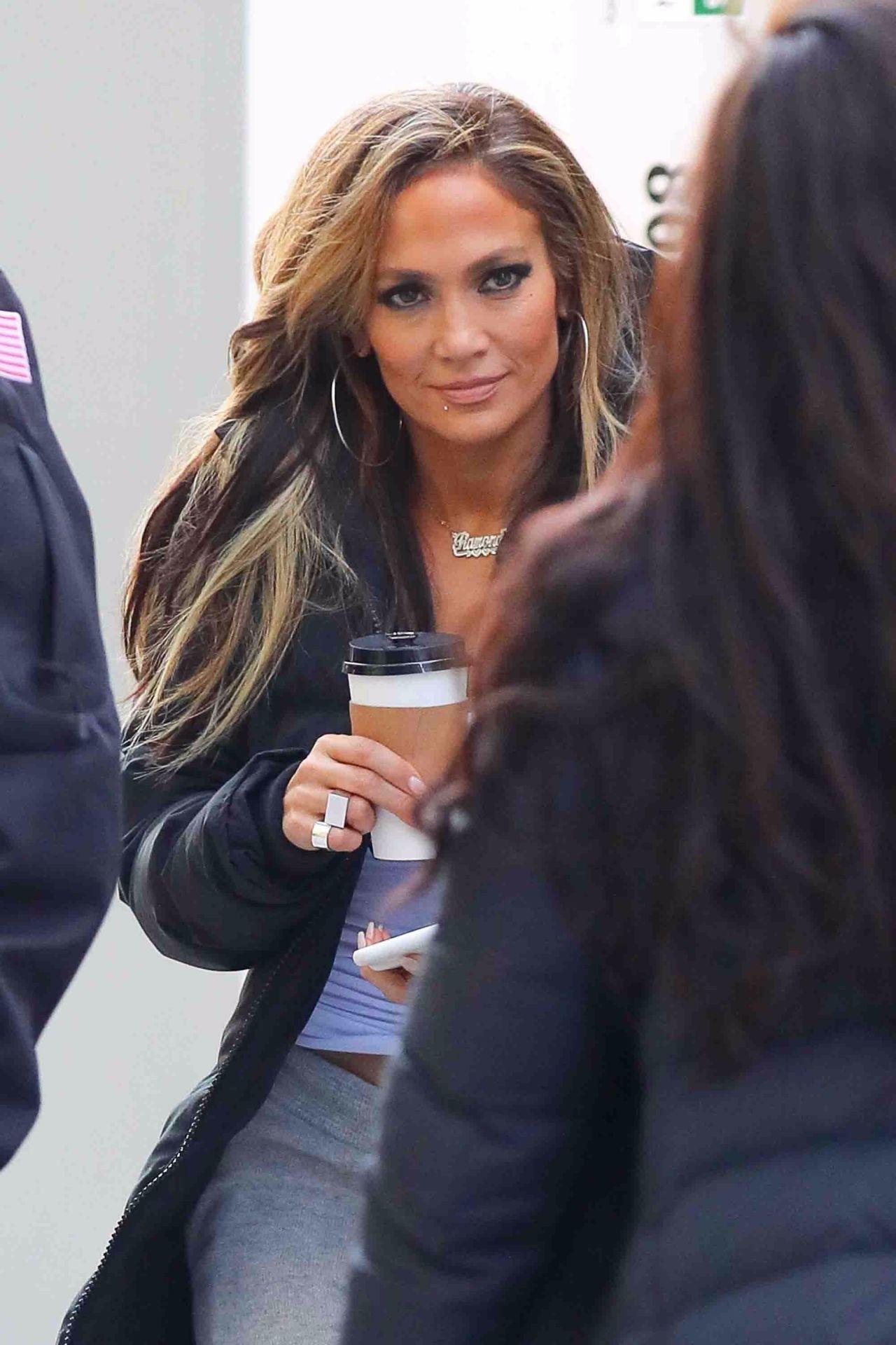 "Jennifer Lopez - Arrives on the Set of ""Hustlers"" in NYC ..."