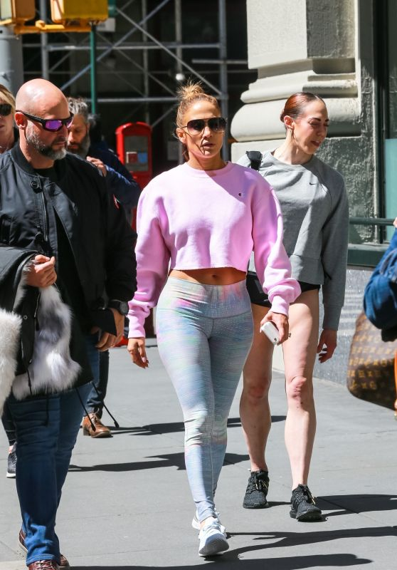 Jennifer Lopez - Heading to the Gym in NYC 04/16/2019