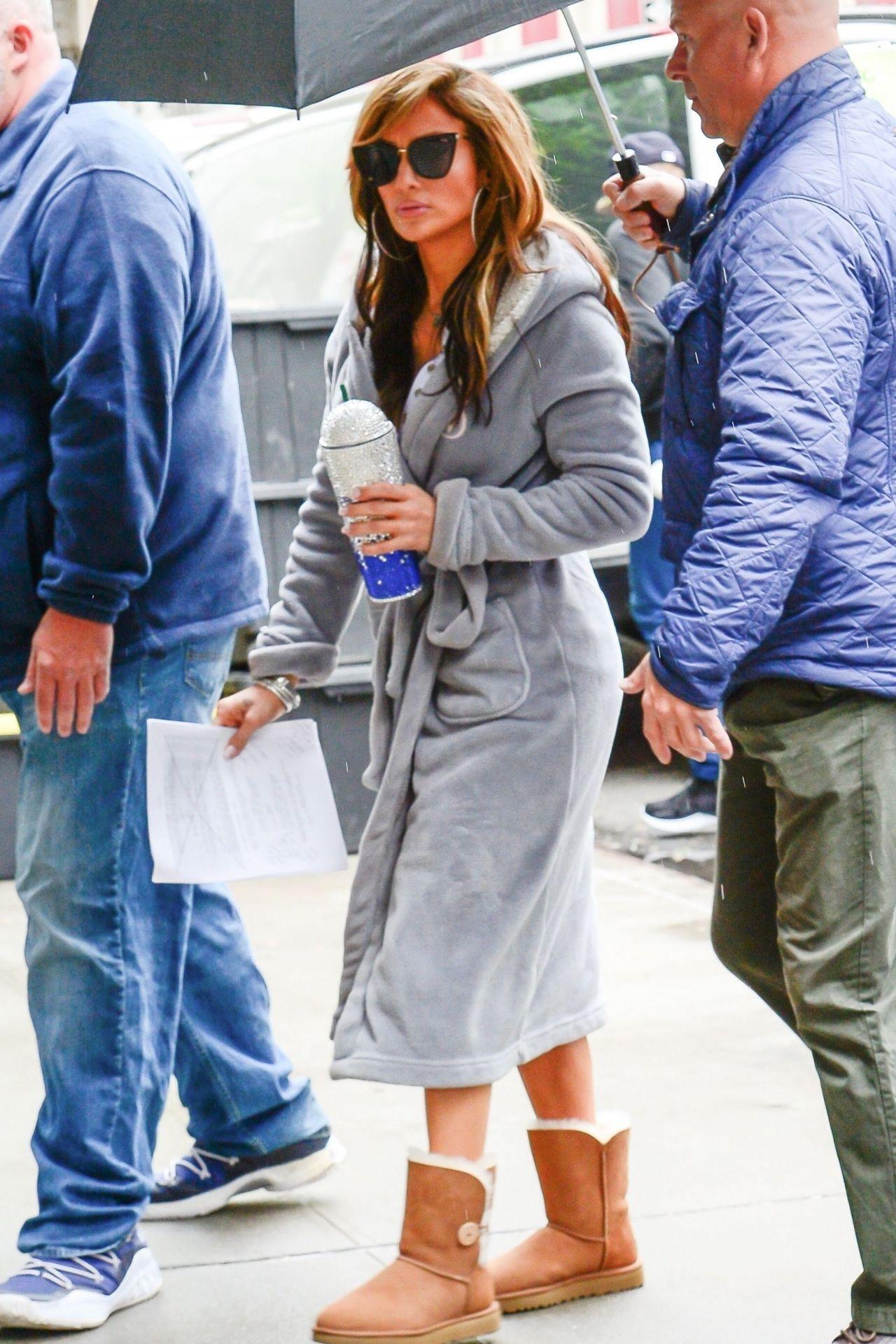 """Jennifer Lopez - """"Hustlers"""" Set in NYC 04/22/2019"""