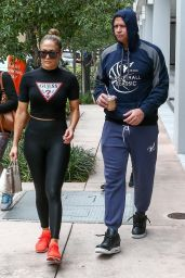 Jennifer Lopez in Workout Gear - Miami 04/20/2019