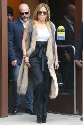 Jennifer Lopez Style&Fashion - Exiting Z100 Studios in NYC 04/09/2019