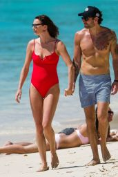 Jodie Kidd and Joseph Bates on the Beach in Barbados 04/20/2019