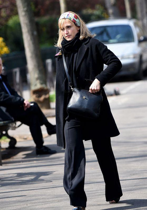 Julie Gayet - Arriving at Agnes Varda Tribute in Paris 04/02/2019