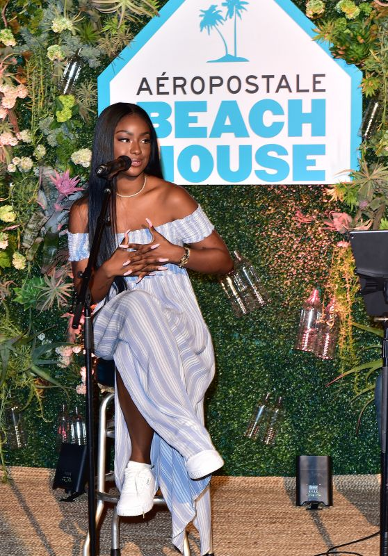 Justine Skye – Aero x Repreve Eco Friendly Collection in Malibu 04/26/2019