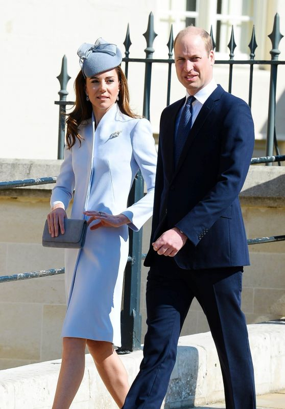Kate Middleton - Traditional Easter Sunday Church Service at St George