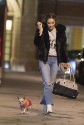 Katharine McPhee - Walking Her Dog in London 04/18/2019