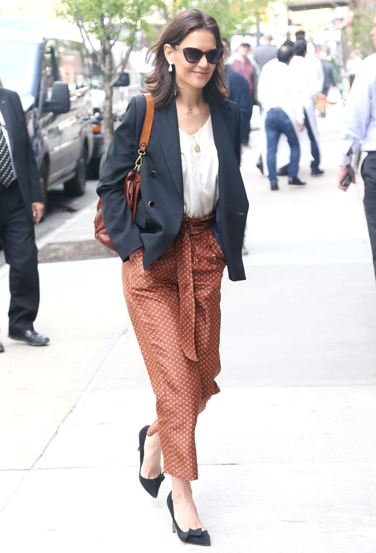 Katie Holmes Arriving At The Tribeca Film Festival