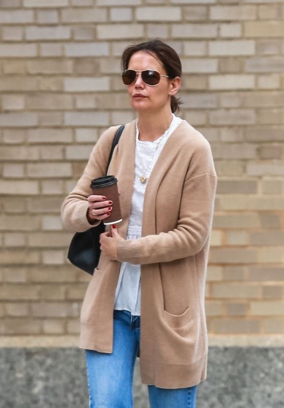 Katie Holmes in Casual Attire - Out in NYC 04/17/2019