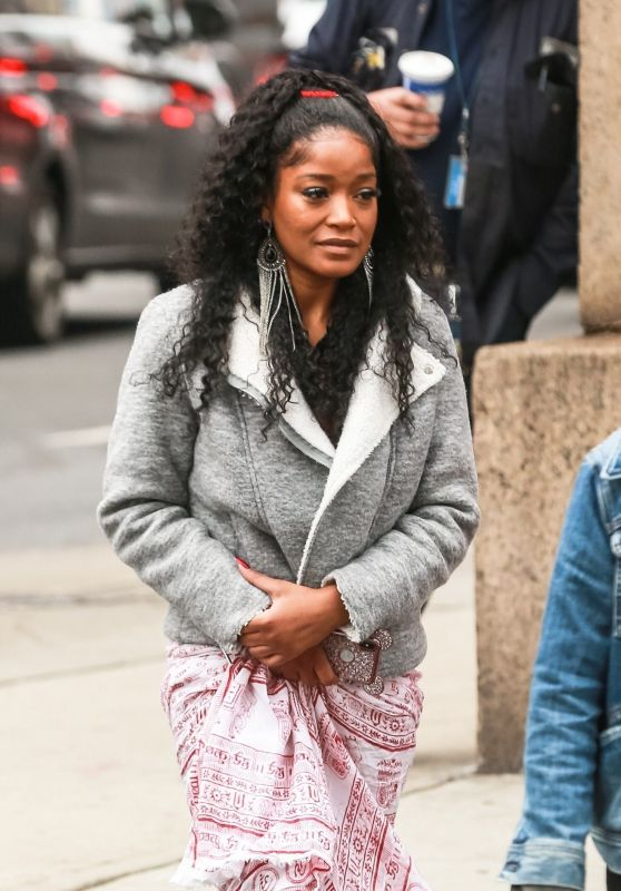 "Keke Palmer - Arriving on the Set of ""Hustlers"" in NYC 04/08/2019"