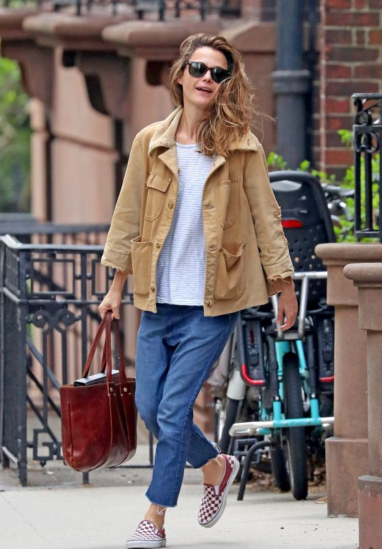 Keri Russell Street Style - NYC 04/22/2019