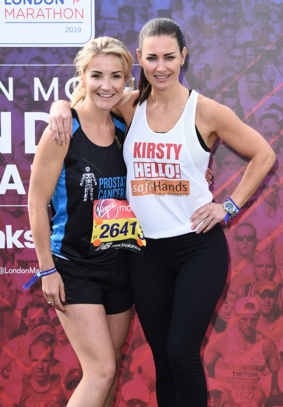 Kirsty Gallacher and Helen Skelton - 39th London Marathon
