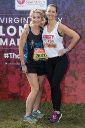 Kirsty Gallacher and Helen Skelton - 39th London Marathon