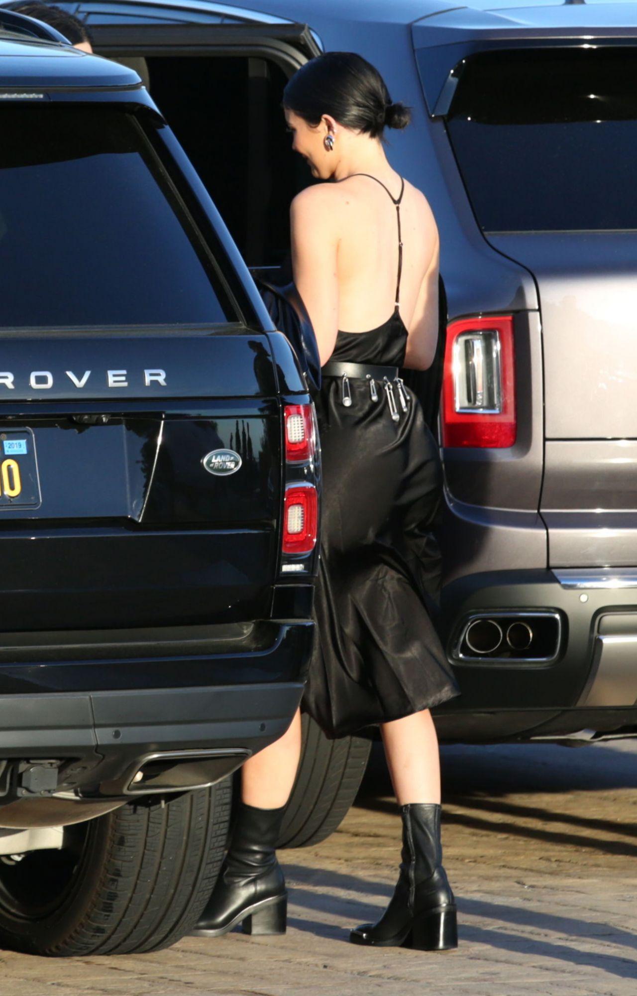 Kylie Jenner In Black Sultry Dress Malibu 04 06 2019