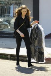 Lily Collins - a Trip to the Dry Cleaners in West Hollywood 04/18/2019